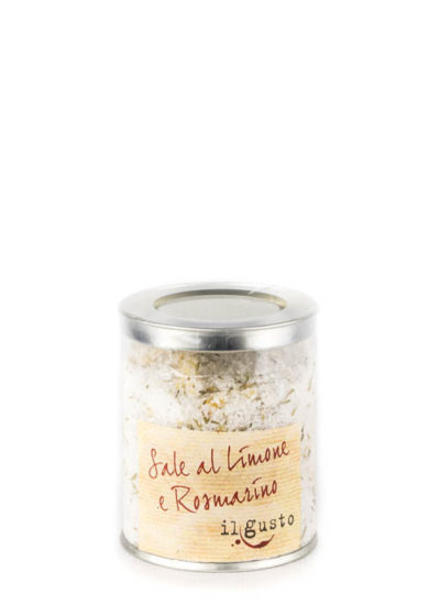Salz mit Zitrone und Rosmarin